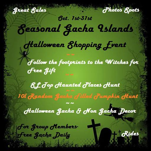 Halloween Town Seasonal Gacha Resell Islands October 2020